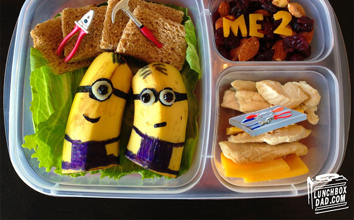 Lunchbox Dad Makes Creative Sandwiches And Snacks For His Daughter's School Lunch