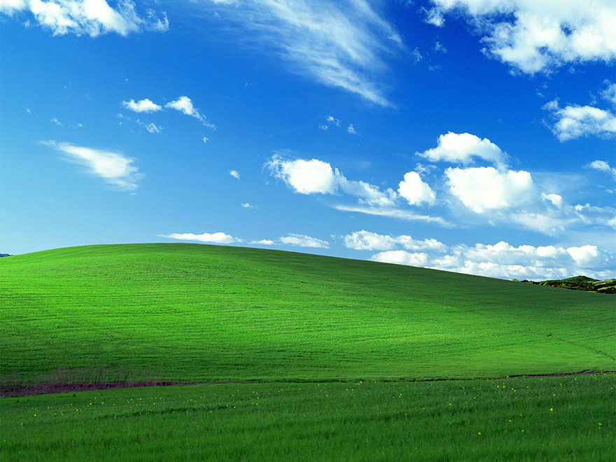 the world s most viewed photo the windows xp bliss wallpaper
