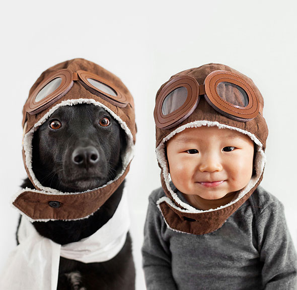 2d871153ade Mom Takes Adorable Matching Portraits Of Her 10 Month-Old Baby And Their  Rescue Dog