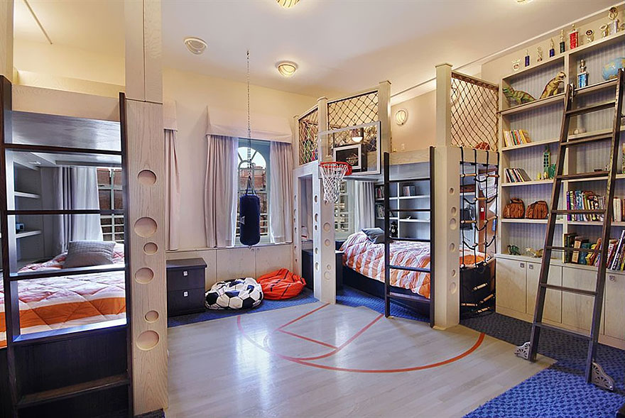 Basketball Court Bedroom