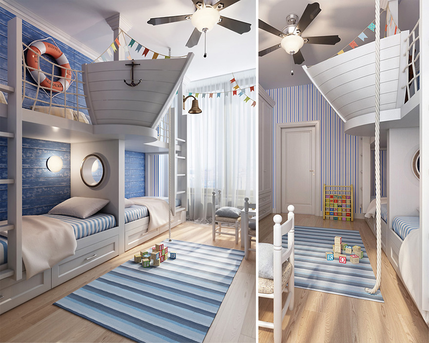 22 creative kids room ideas that will make you want to be for Design di mobili korson