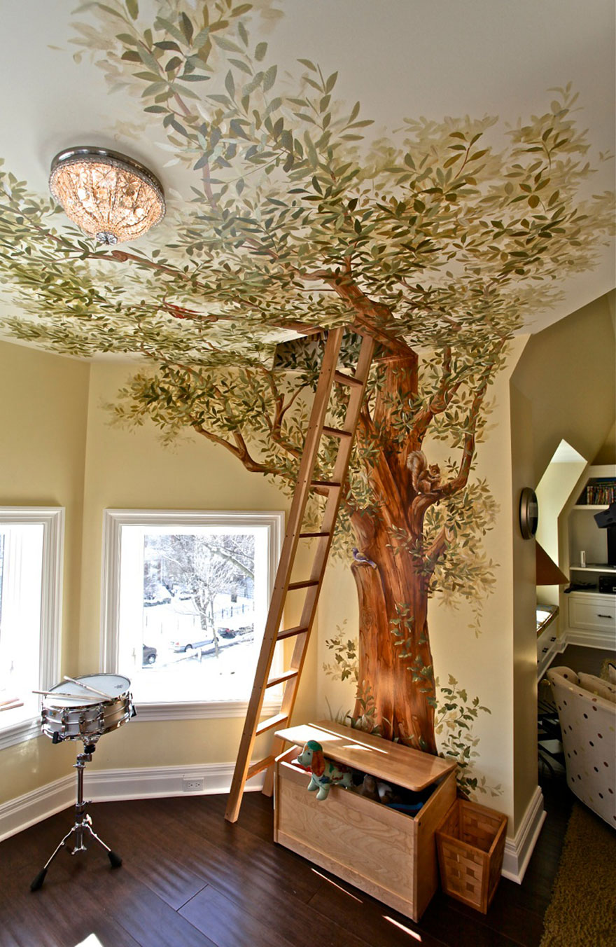 secret treehouse play room - Bedroom Play Ideas