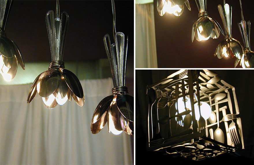 21 diy lamps chandeliers you can create from everyday for Diy kitchen light fixtures