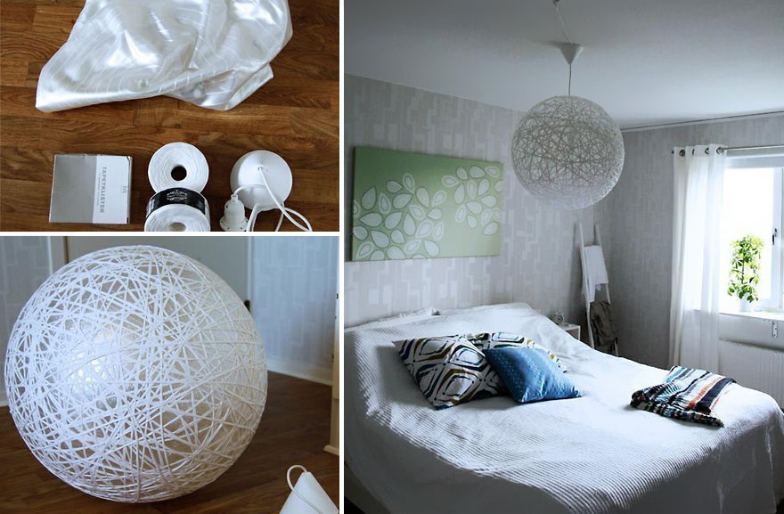 21 diy lamps chandeliers you can create from everyday objects bored panda. Black Bedroom Furniture Sets. Home Design Ideas