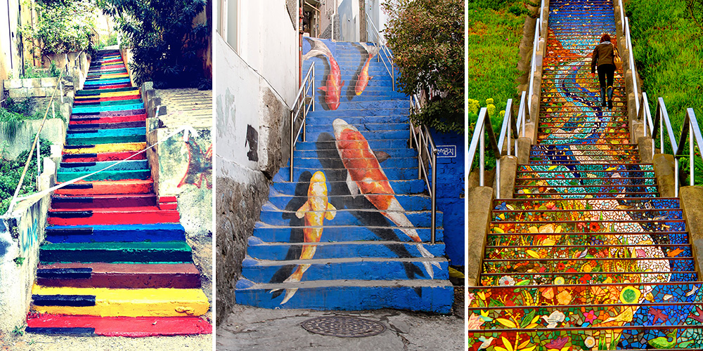 17 of the most beautiful steps around the world bored panda for Art from around the world