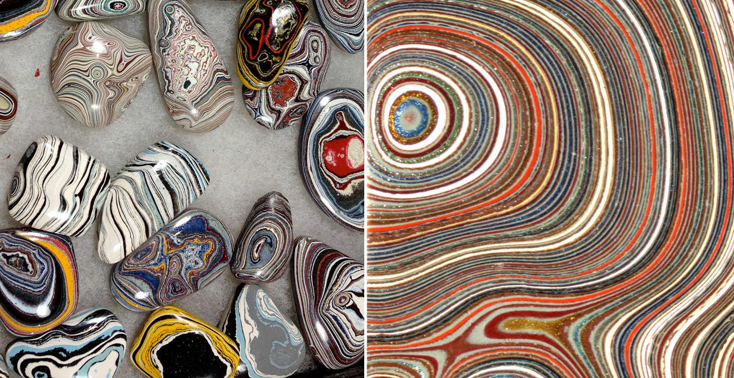 These Gorgeous Stones Were Accidentally Created From Layers of Car Paint In Old Auto Factories