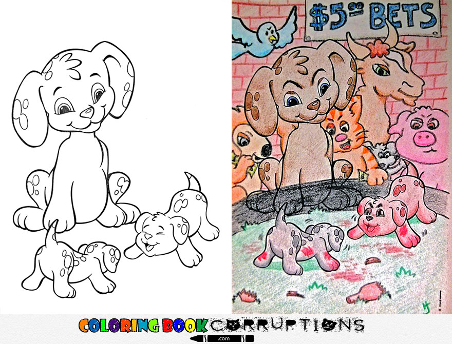 funny children coloring book corruptions 21 - Color Books For Toddlers