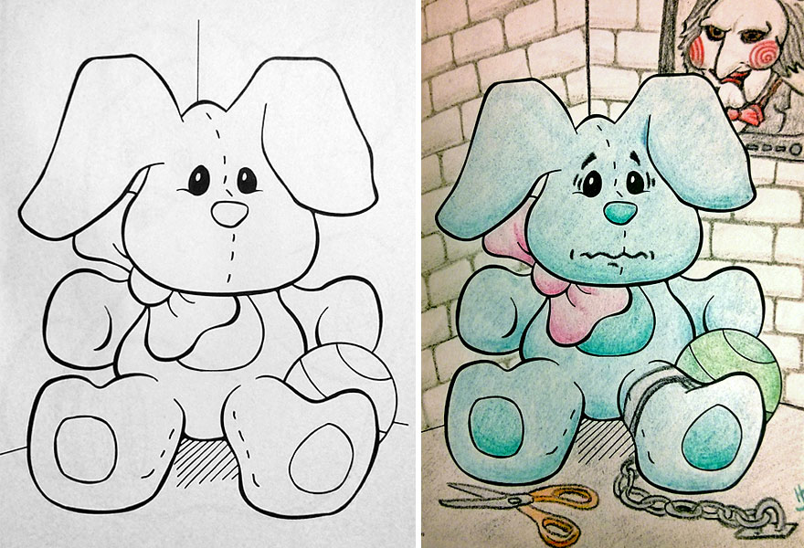 funny children coloring book corruptions 23 - Colouring In Pictures For Children 2