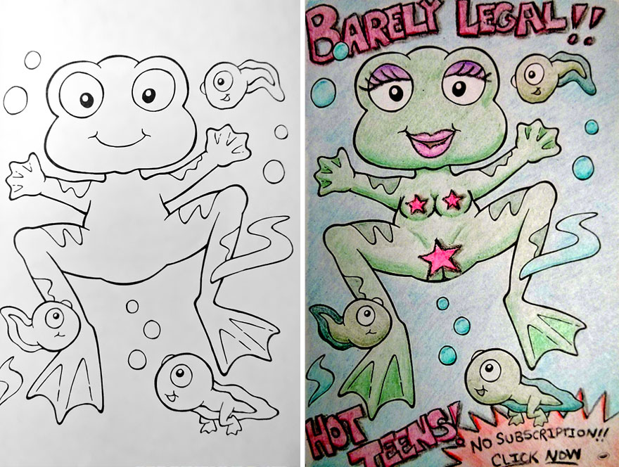funny children coloring book corruptions 24 - Coloring Book Pages For Adults 2