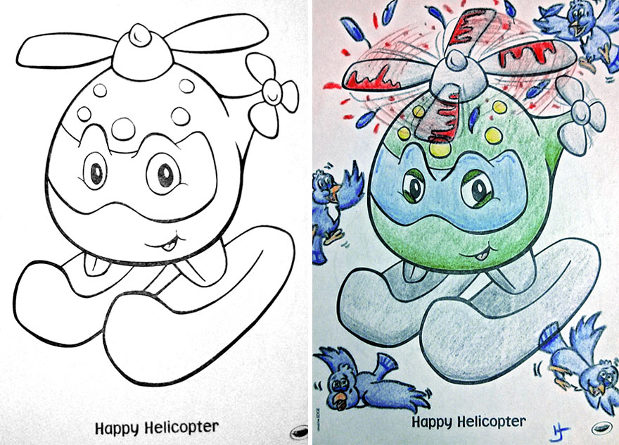 funny children coloring book corruptions 26 - Coloring Sheet For Kids