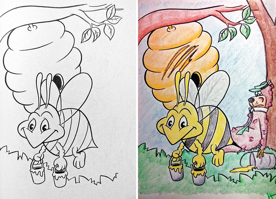 funny children coloring book corruptions 31 - Color In Pictures For Kids