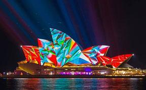 Light Transforms Sydney's Buildings Into Stunning Works Of Art For 'Vivid Sydney' Festival