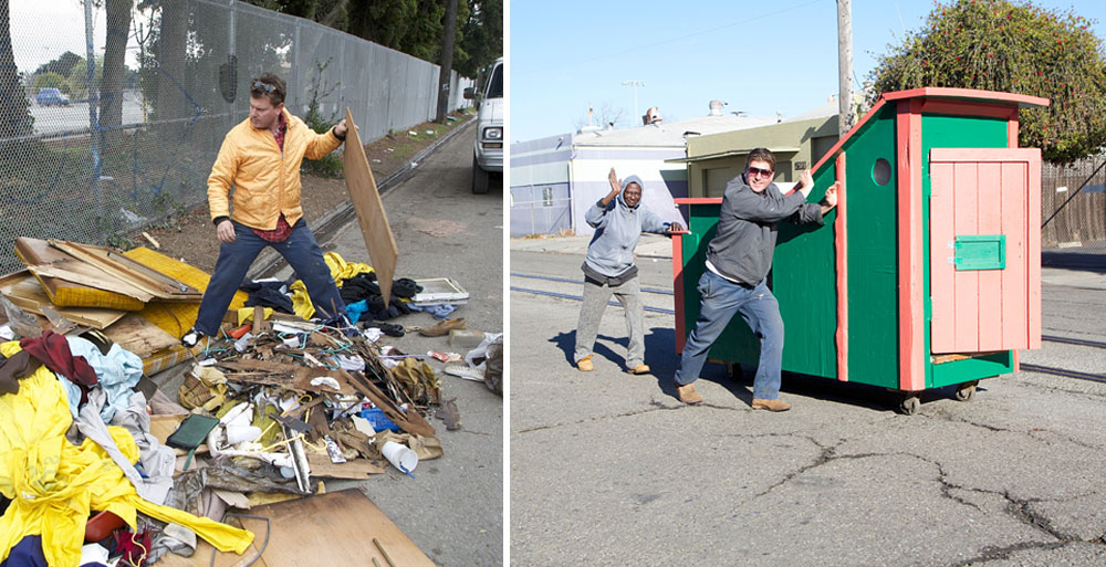 This Artist Turns Trash Into Homes For The Homeless