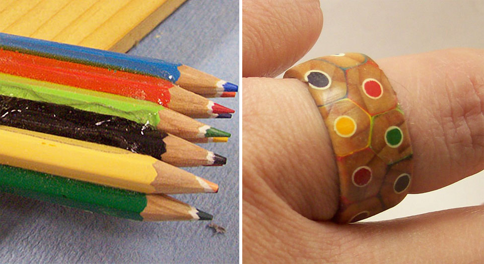 This Guy Turned A Pack Of Colored Pencils Into A Beautiful Ring