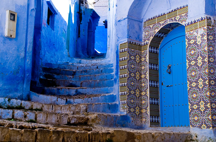 Chefchaouen Morocco  city photos gallery : blue streets of chefchaouen morocco 11