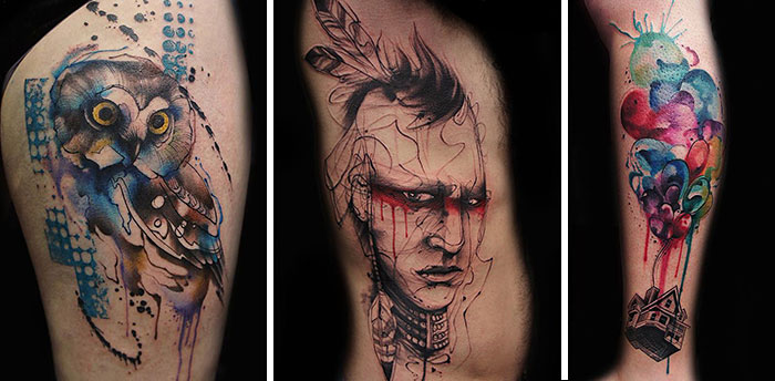 Tattoo Artist Creates Impressive Freehand Tattoos On The Spot Without Any Sketches
