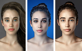 Woman Had Her Face Photoshopped In More Than 25 Countries To Compare Their Beauty Standards