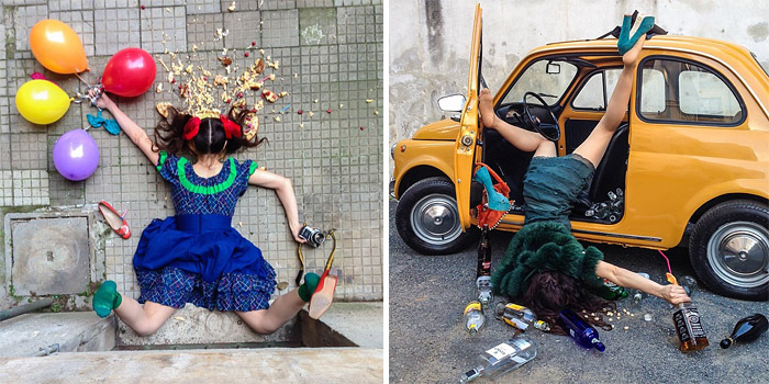 Hilarious Photos Of People Who've Fallen Down Among All Their Belongings
