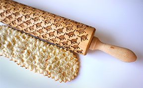 These Custom Laser-Engraved Rolling Pins Will Stamp Your Dough With Cool Patterns