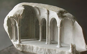 Classical Interiors Carved Into Marble And Stone By Matthew Simmonds