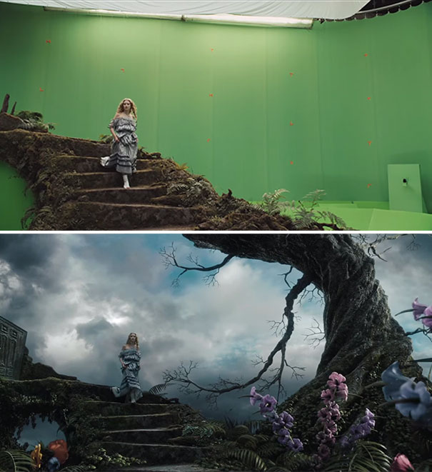 18 revealing beforeandafter vfx shots from your favorite