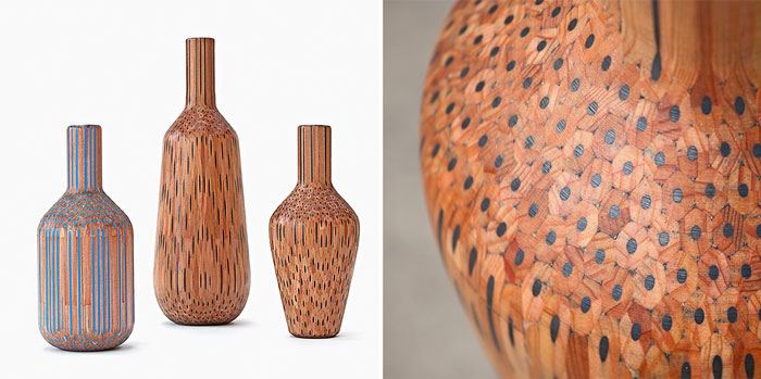 Artist Turns Pencils Into Beautiful Vases