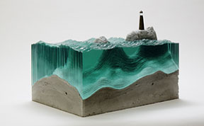 Self-Taught Artist Layers Glass Sheets Together To Form Ocean Waves