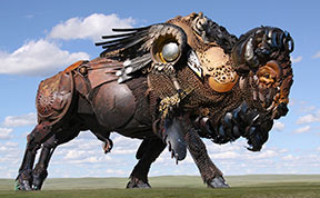 Old Farm Equipment And Scrap Metal Turned Into Stunning Sculptures