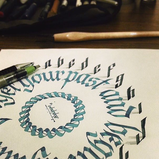 Letters leap off the page in 3d calligraphy by tolga girgin bored 3d calligraphy tolga girgin 2 expocarfo