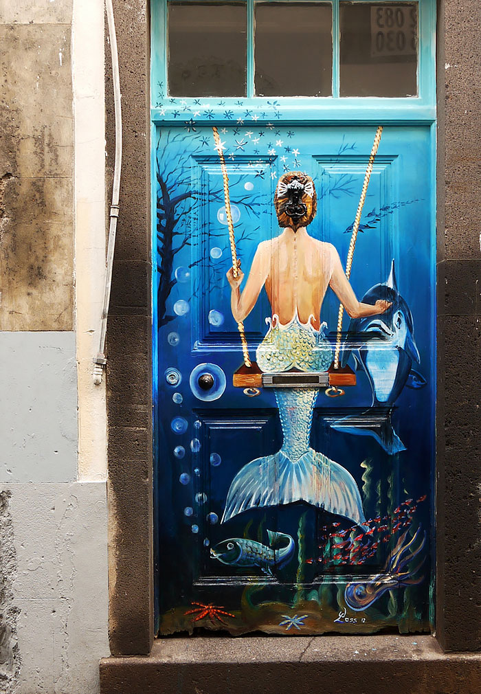 Funchal Madeira Portugal & 30 Beautiful Doors That Seem To Lead To Other Worlds | Bored Panda