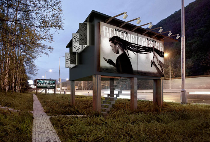 Billboards Turned Into Tiny Shelter Houses For The Homeless