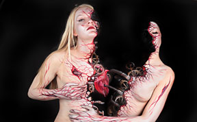 Incredible Body Paintings By Gesine Marwedel Transform People Into Animals And Organs