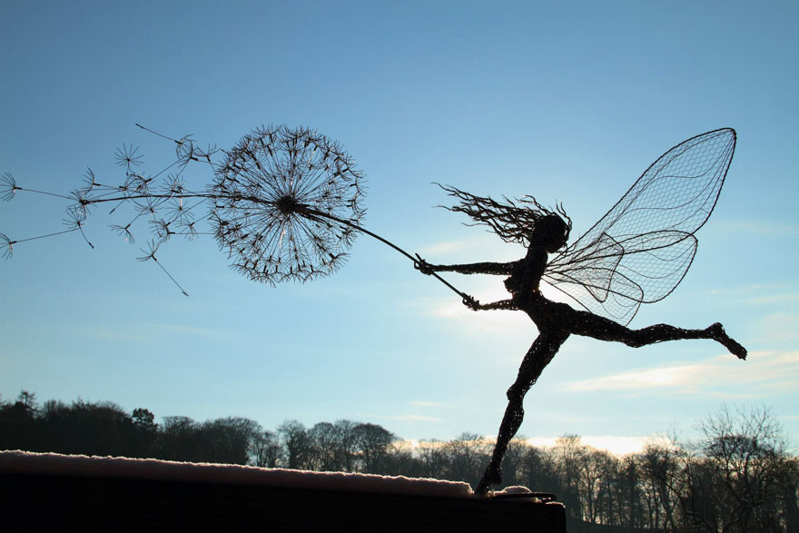 Dramatic Fairy Sculptures Dancing With Dandelions By Robin Wight ...