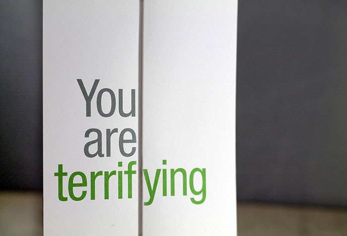 seemingly offensive foldout greeting cards by finchandhare, Greeting card