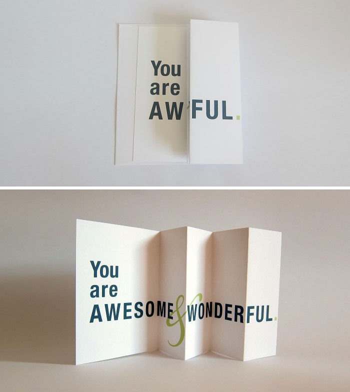 Seemingly Offensive Fold Out Greeting Cards By FinchAndHare