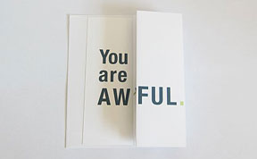 Seemingly Offensive Fold-Out Greeting Cards by FinchAndHare