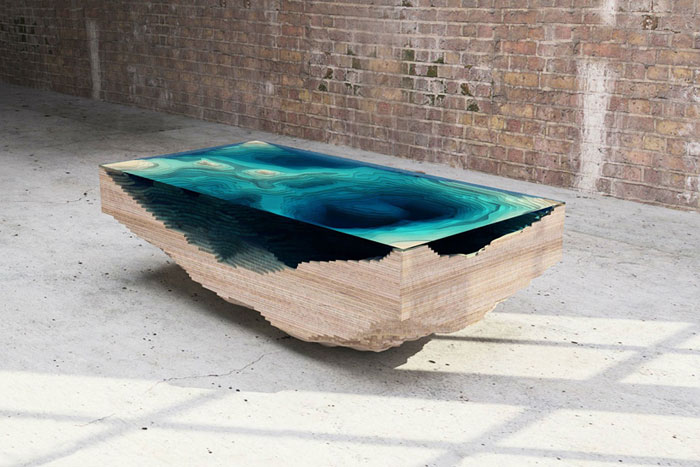 This Amazing Layered Glass Table Mimics The Depths Of The Ocean
