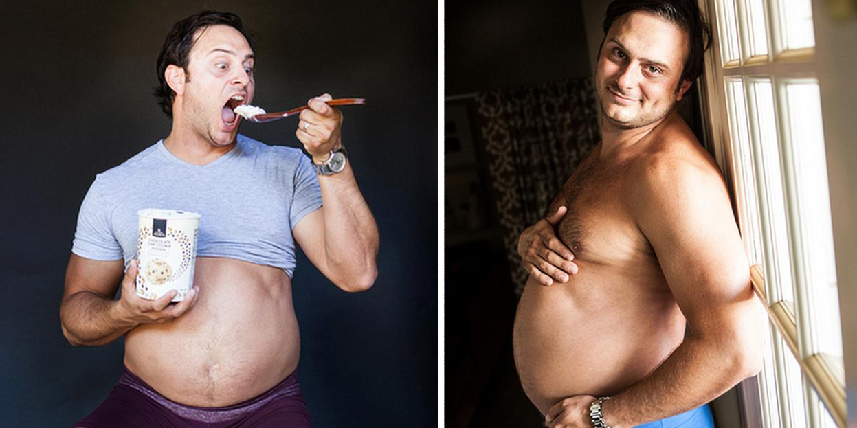 This Guy's Wife Refused To Take Maternity Photos, So He Had Some Taken Of Himself Instead