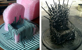Game of Phones: Girl Makes A Mini DIY Iron Throne Stand For Her Phone