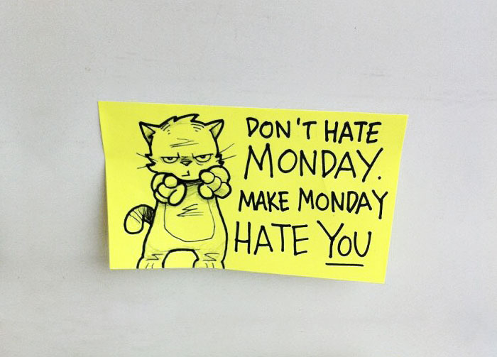 Artist Leaves Cute Motivational Sticky Notes On The Train