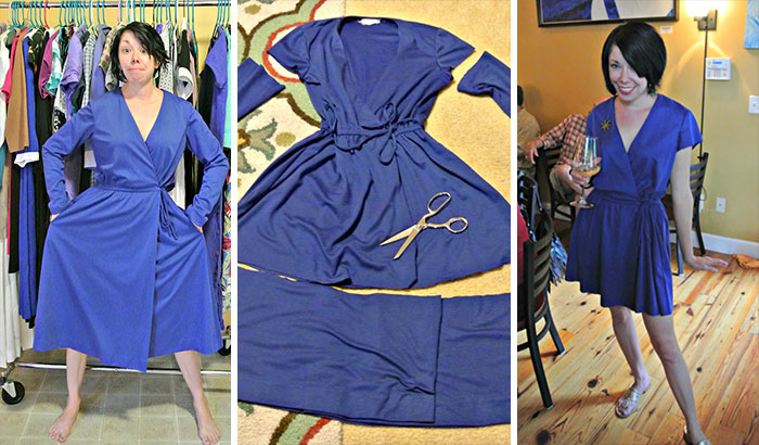 This Woman Transforms Second-Hand Clothes Into Elegant Dresses