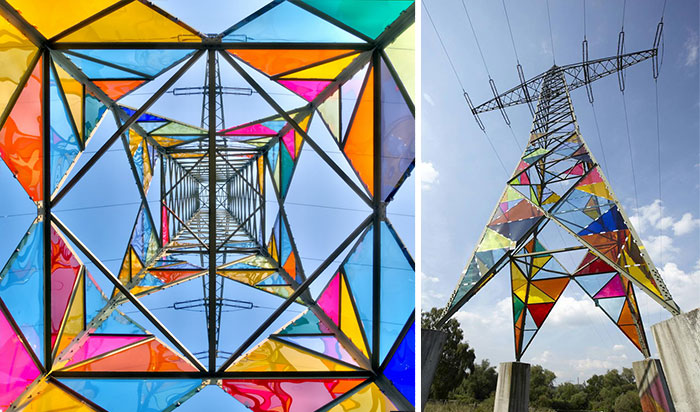 Art Students Transform Ugly Electrical Towers Into Colorful Lighthouses