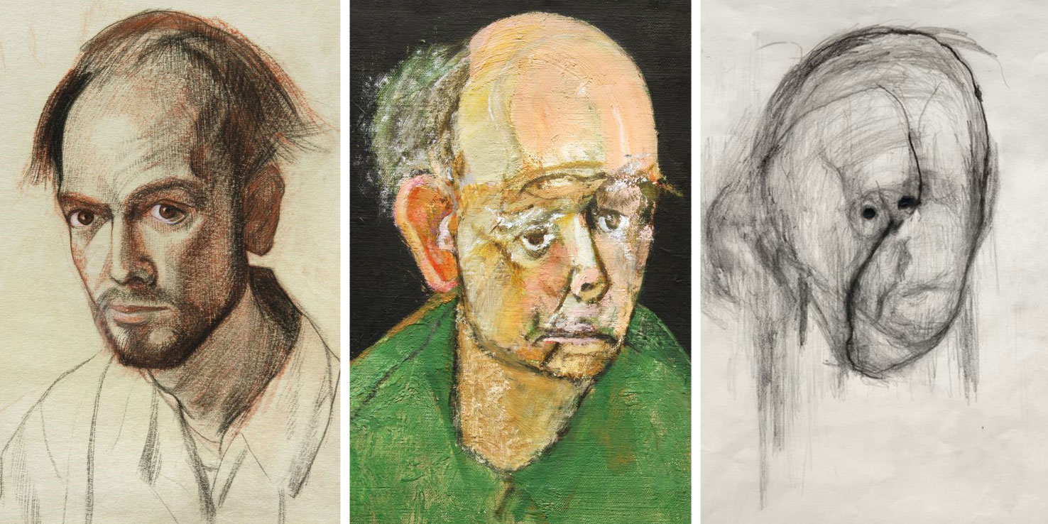 Artist With Alzheimer's Drew Self Portraits For 5 Years Until He Could Barely Remember His Own Face