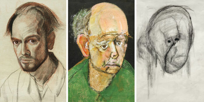 Artist With Alzheimers Drew Self Portraits For 5 Years Until He Could Barely Remember His Own Face
