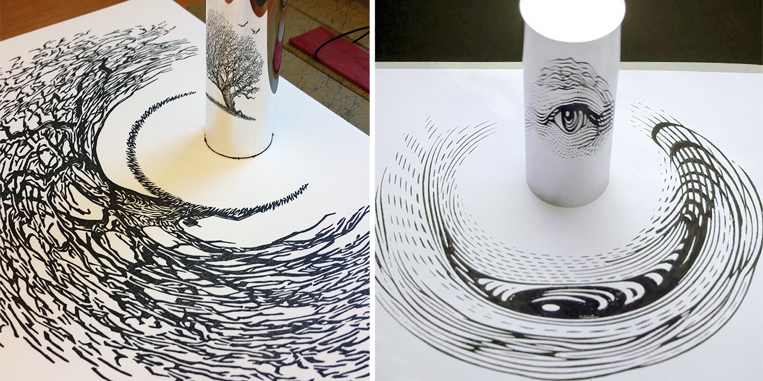 Stunning Anamorphic Artworks That Can Only Be Seen With A - Anamorphic art looks real