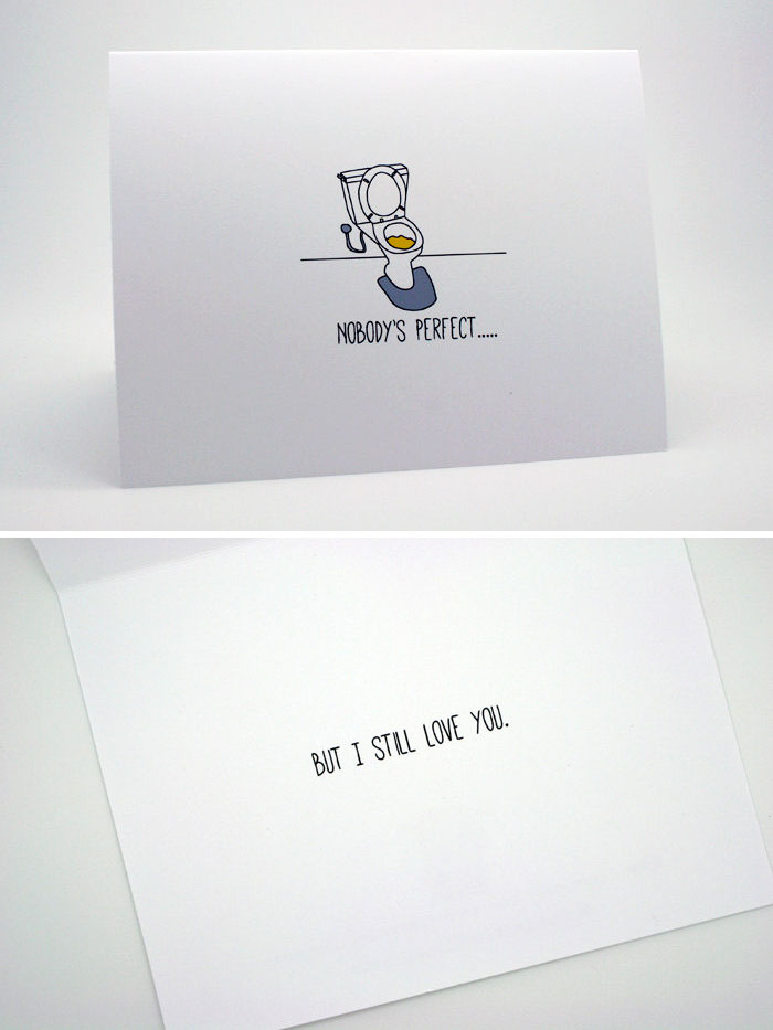 Unusual Love Cards For Couples With A Twisted Sense Of Humour - 24 hilarious photos that take irony to another level