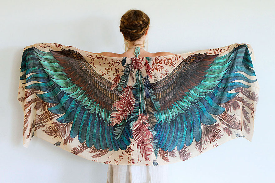 these beautiful scarves will give you wings bored panda