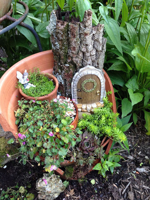 Broken Pots Turned Into Brilliant DIY Fairy Gardens Bored Panda