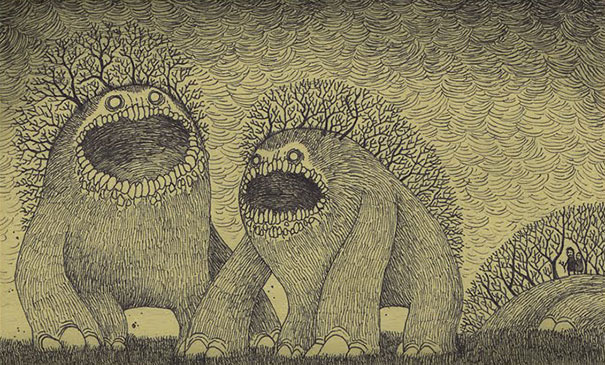 creepy-monsters-sticky-notes-drawings-don-kenn-7
