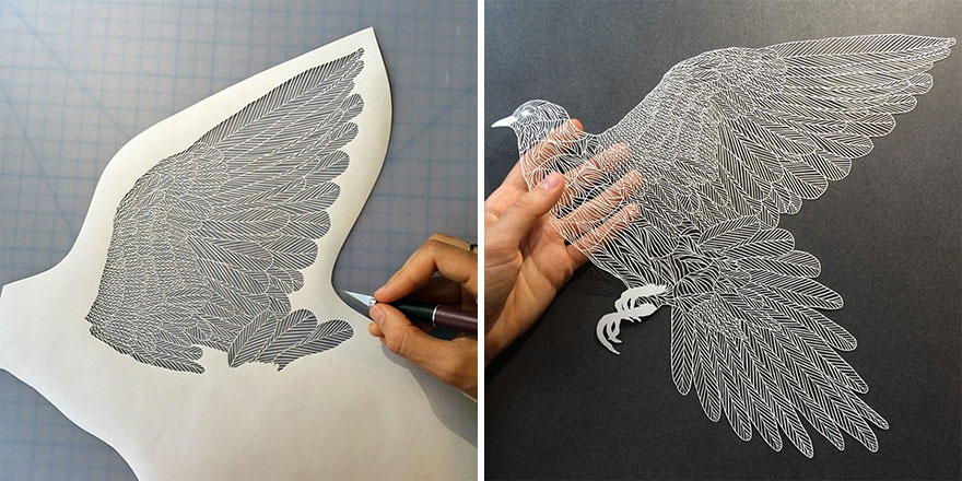 delicate cut paper art illustrations maude white 1